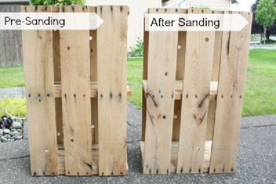 Step and step instructions to build a modular pallet bookcase 11