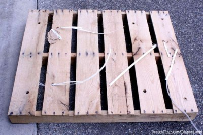Step and step instructions to build a modular pallet bookcase 2