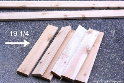 Step and step instructions to build a modular pallet bookcase 6