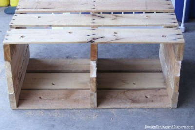 Step and step instructions to build a modular pallet bookcase 9