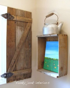 Build a rustic shutter for your bathroom using pallet boards 13