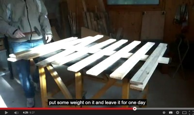 Video of how to make a Christmas tree with pallets