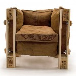 Armchair design made with recycled items
