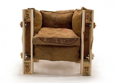 Armchair design made with recycled items 1