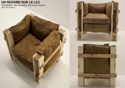 Armchair design made with recycled items 3