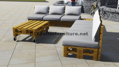 Design of corner sofa with table built using pallets 2
