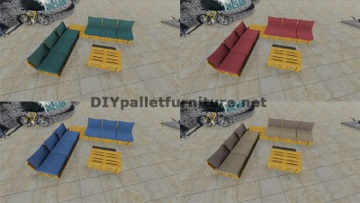Design of corner sofa with table built using pallets 7