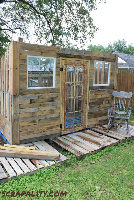 Pallet Shed Project The Pallet Coatingdiy Pallet