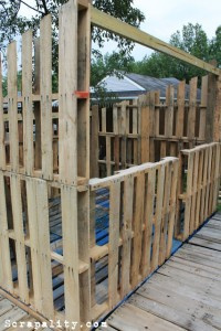 Pallet shed project The pallet walls 1