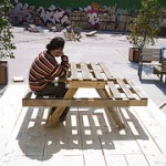 Plans to make a picnic table and composter with pallets