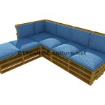 Step by step guide to easily make a sofa with chaise-long using entire pallets