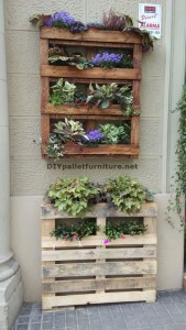 Urban Decor using pallet planters 2