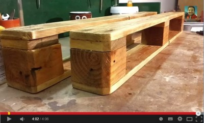 Video of how to make a shelf using one pallet
