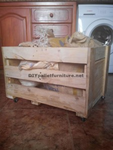 Workshop and box built with pallets 4