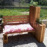 Bench planter built with pallets