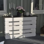 Counter or exhibiting table with 2 pallets 1