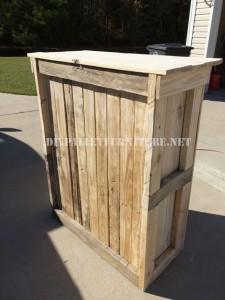 Shoe rack for bedroom built with pallets 5