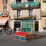 Stage and informative poster with pallets
