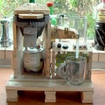 A coffee machine built with pallets! 2