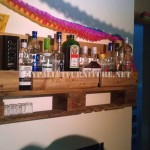Bar shelf with just one pallet