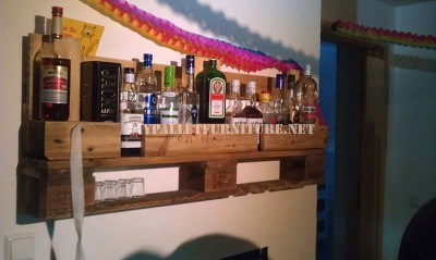 Bar shelf with just one pallet 1