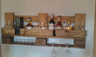 Bar shelf with just one pallet 2