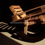 Curious design of a rocking chair made from recycled items