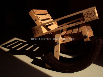 Curious design of a rocking chair made from recycled items 1
