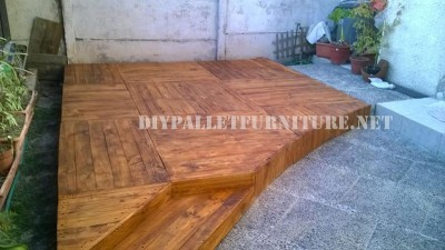 Examples of platforms built with palletsdiy pallet - Terrasse exterieur en palette ...