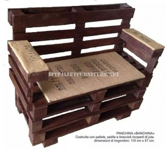 How to make a bench with pallets step by step 1