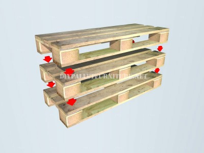 How to make a bench with pallets step by step 2