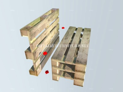 How to make a bench with pallets step by step 3