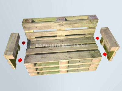 How to make a bench with pallets step by step 5