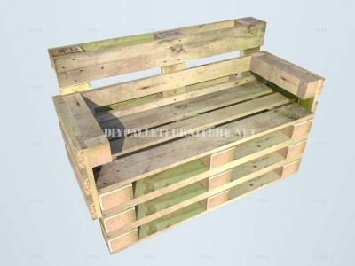 How to make a bench with pallets step by step 6