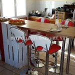 Breakfast bar for the kitchen built using pallets