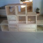 Modular shelving made with pallets
