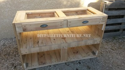 Pallet drawer for the kitchen 4