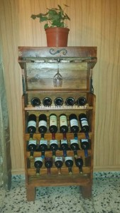 Wine racks options made with pallets 2