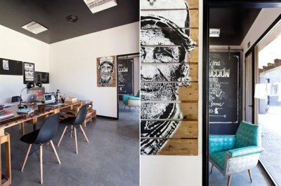 Advertising and film producer office furnished with pallets 5