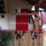 Caribbean Bar built with pallets