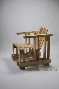 Echo-system proposes a very special design for an armchair with pallets 1