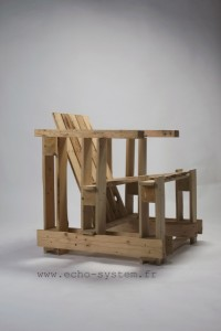 Echo-system proposes a very special design for an armchair with pallets 3