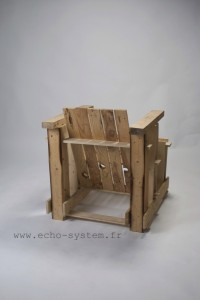 Echo-system proposes a very special design for an armchair with pallets 5