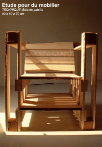 Interesting design 2 in 1 of a chair and bookcase with pallets 4