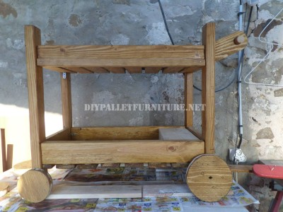 Serving trolley made with pallets 1