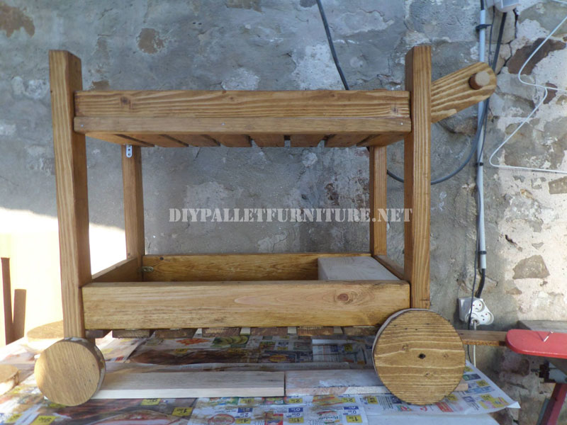 Serving Trolley Made With PalletsDIY Pallet Furniture DIY Pallet Furniture