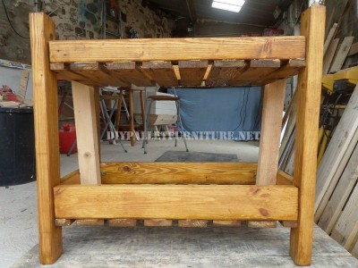 Serving trolley made with pallets 5