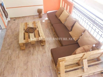 Sofa for terrace made with pallets 5