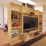 TV cabinet built with fruit boxes