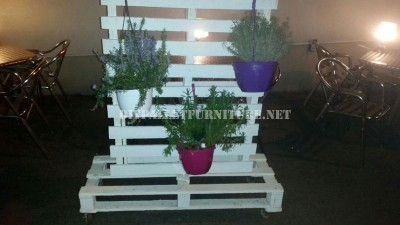 Vertical support for planters with pallets 1